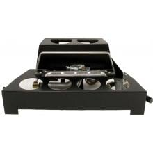 Rasmussen 20-Inch Light Gray ALTERNA FireStone Set With Vent Free Propane Black Chassis Burner - Manual Safety Pilot Rasmussen 20-Inch Light Gray ALTERNA FireStone Set With Vent-Free Black Chassis Burner - Vent-Free Black Chassis Burner