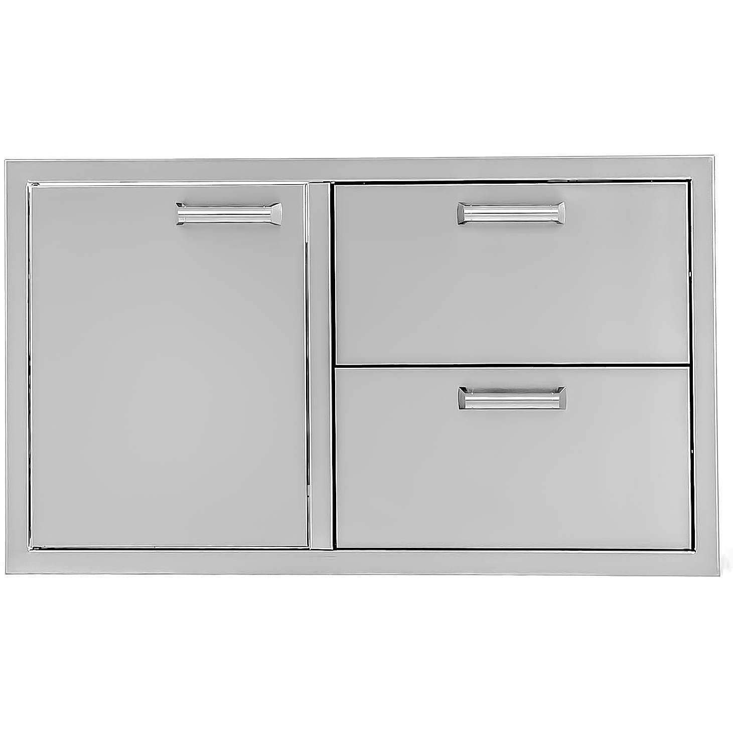 BBQGuys  Sonoma Series 36 inch Stainless Steel Left-Hinged Access Door and Double Drawer Combo - BBQ-350H-COMBO36