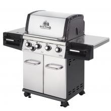Broil King Regal S440 Pro 4-Burner Freestanding Natural Gas Grill With Side Burner - Stainless Steel Broil King Regal S440 Pro 4-Burner Freestanding Gas Grill - Angled View