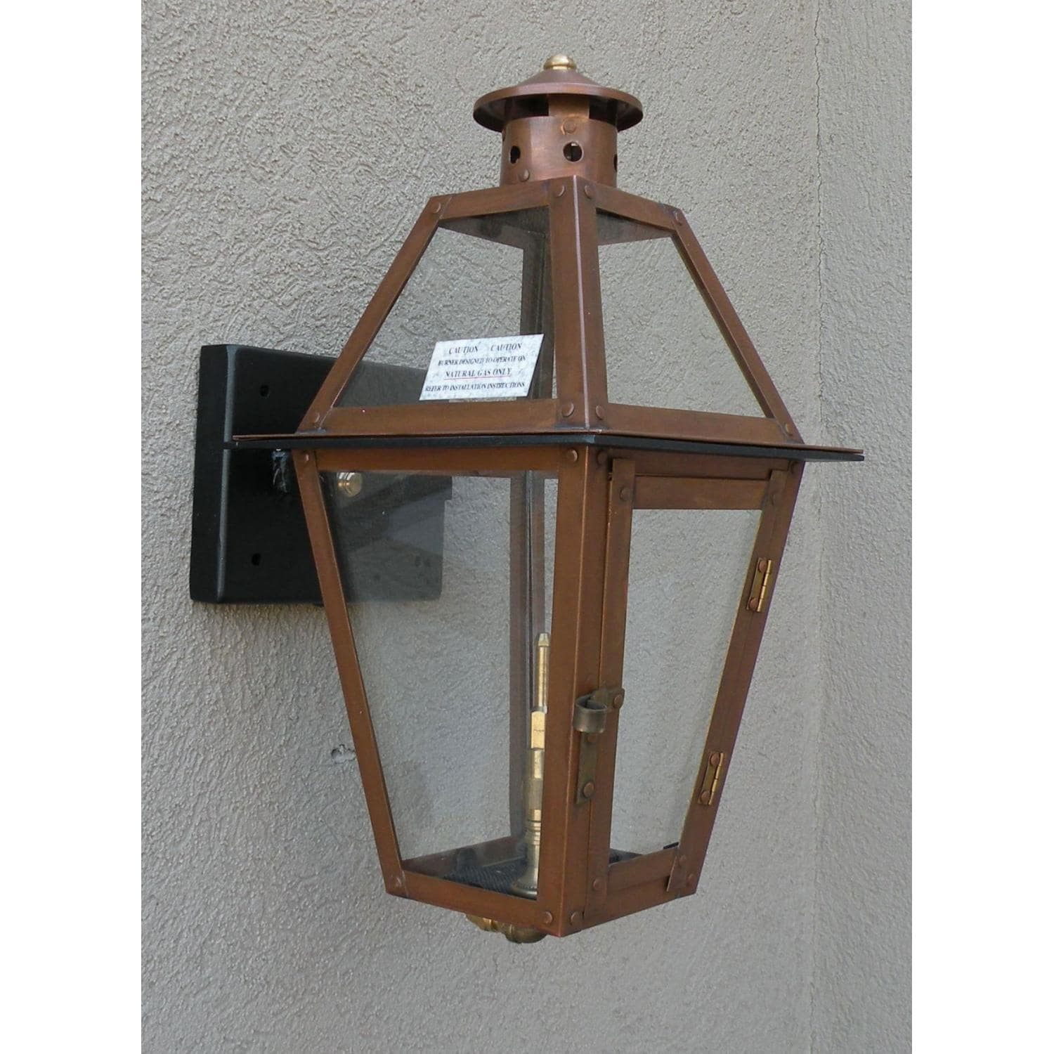 Regency GL18 Beaumont Natural Gas Light With Open Flame Burner And Electronic Ignition On Wall ...