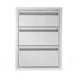 BBQGuys Aspen Series 20-Inch Stainless Steel Triple Access Drawer image