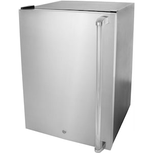 RCS 21-Inch 4.5 Cu. Ft. Left Hinge Compact Refrigerator With Stainless Steel Door And Towel Bar Handle image
