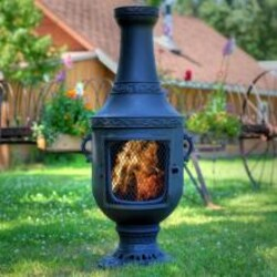 The Blue Rooster Venetian Style Cast Aluminum Chiminea - Charcoal image