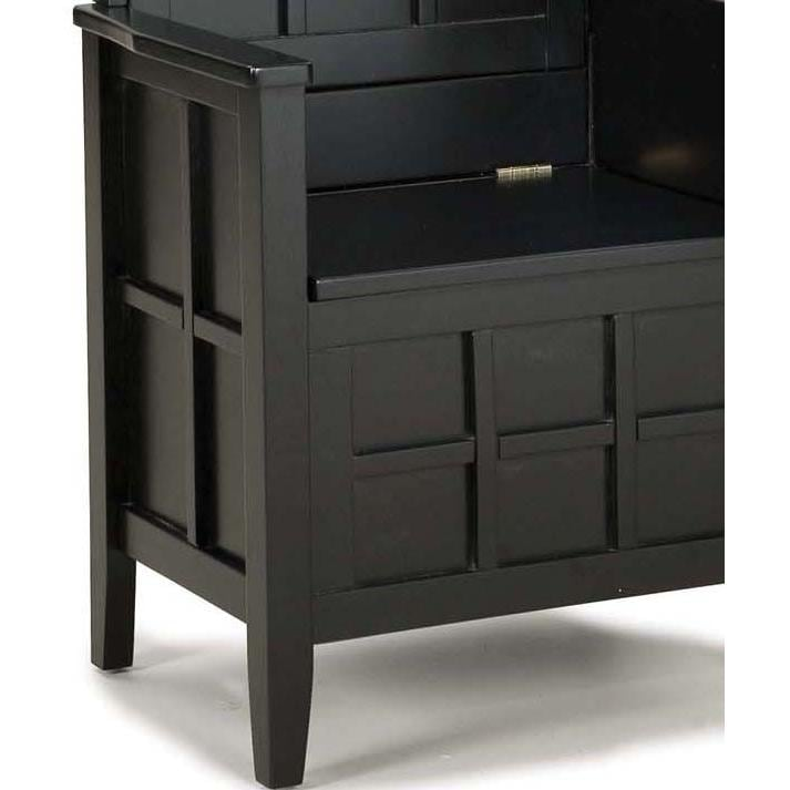 home styles mini hall tree and storage bench black