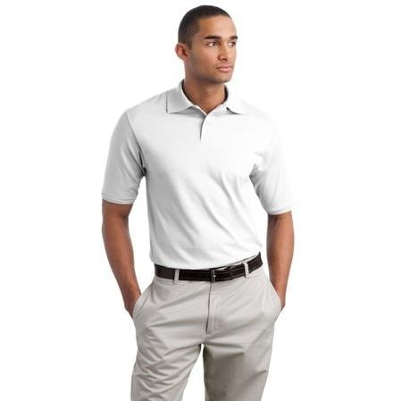 Jerzees SpotShield 5.6-Ounce Jersey Knit Polo Shirt Large - White