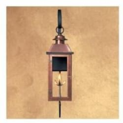 Legendary Lighting Vulcan 3 Copper Propane Gas Light With Wall Bracket And Electronic Ignition image
