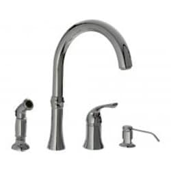 SIR Faucets Wide Spread Hot/Cold Faucet With Soap Dispenser & Spray - Chrome image
