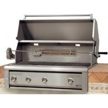 Luxor LED Series 36-Inch Built-In Natural Gas Grill W/ One Infrared Burner & Rotisserie - AHT-36RCV-L-BI-NG image