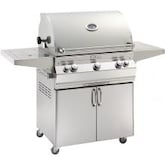 Fire Magic Aurora A660s 30-Inch Freestanding Propane Gas Grill With Analog Thermometer, Rotisserie And Single Side Burner - A660S-6EAP-62