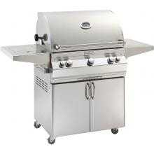 Fire Magic Aurora A660s 30-Inch Freestanding Propane Gas Grill With Analog Thermometer, Rotisserie And Single Side Burner - A660S-6EAP-62 Fire Magic Aurora A660s 30 Inch Freestanding Grill