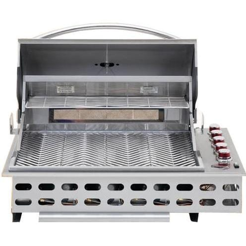 Cal Flame 32 Inch 4 Burner Natural Gas BBQ Grill Flat Drop In