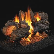 Peterson Real Fyre 30-Inch Charred Oak See-Thru Gas Log Set With Vented G45 Burner Peterson Charred Oak