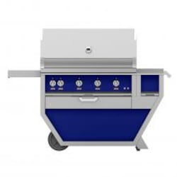 Hestan Deluxe 42-Inch Propane Gas Grill W/ All Infrared Burners, Rotisserie, Worktop & Storage Drawer - Prince - GSBR42CX-LP-BU image