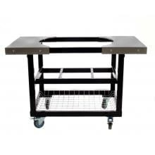 Primo Steel Cart With Stainless Steel Side Tables For Oval XL