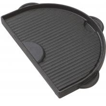 Primo Half Moon Cast Iron Griddle For Oval Junior Primo Cast Iron Griddle Grooved Side