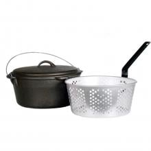 Cajun Classic 9-Quart Seasoned Cast Iron Dutch Oven With Fry Basket - GL10488AS