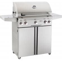 American Outdoor Grill T-Series 30-Inch 3-Burner Freestanding Propane Gas Grill W/ Rotisserie & Single Side Burner - 30PCT