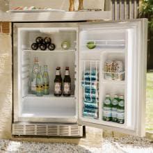 Coyote 21-Inch 4.1 Cu. Ft. Right Hinge Outdoor Rated Compact Refrigerator - CBIR Coyote 21-Inch 4.1 Cu. Ft. Outdoor Stainless Steel Refrigerator - Installed in Outdoor Kitchen