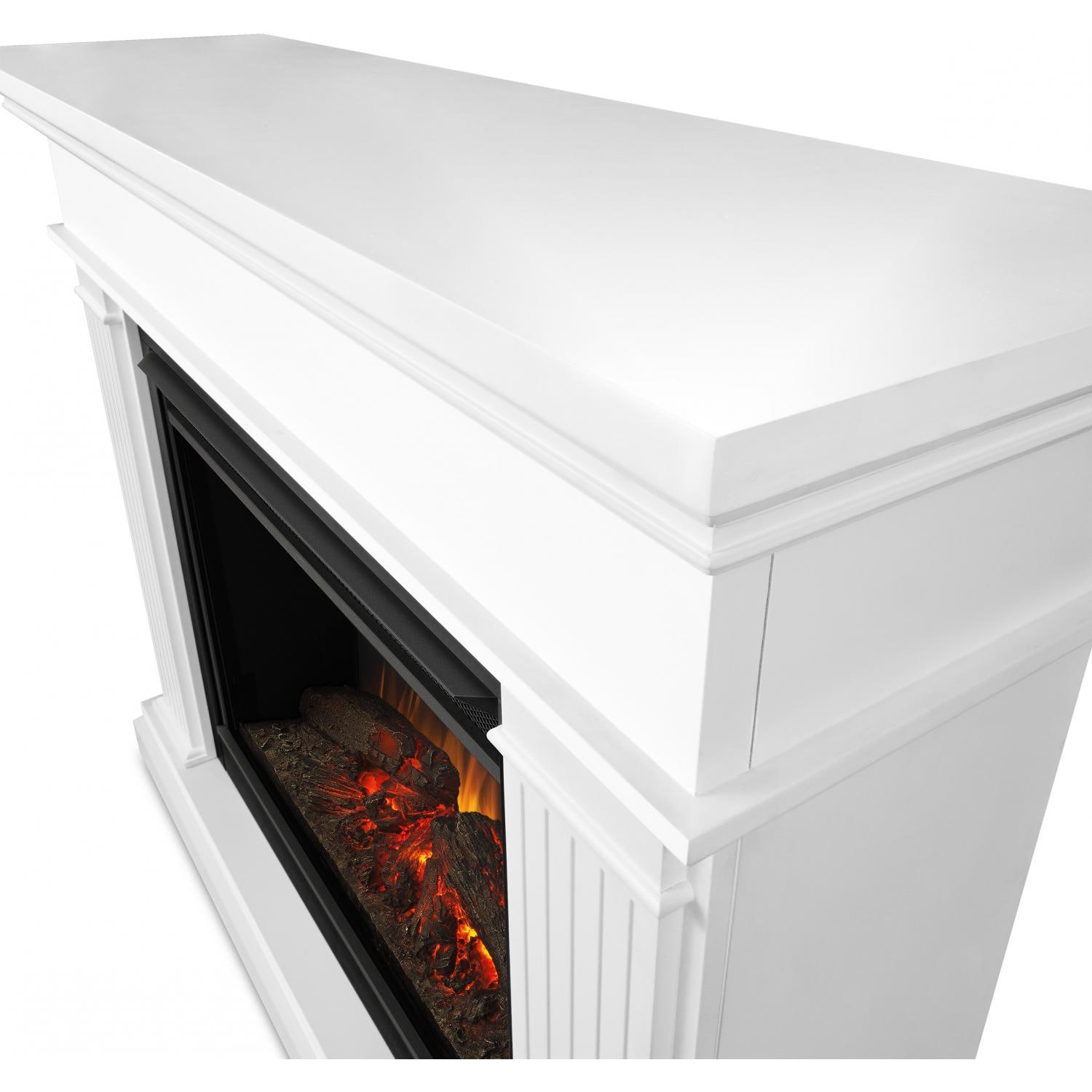 real flame kennedy grand 55 inch electric fireplace with mantel