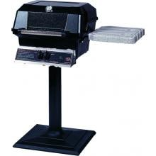 MHP JNR4 Propane Gas Grill With Nu-Stone Shelves And Stainless Grids On Bolt Down Post