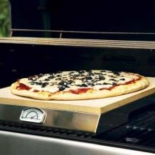15 X 16-Inch Pizza Stone With Built-In Thermometer PizzaQue Pizza Stone Grill