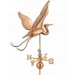 Blue Heron Estate Weathervane By Good Directions - Polished Copper image