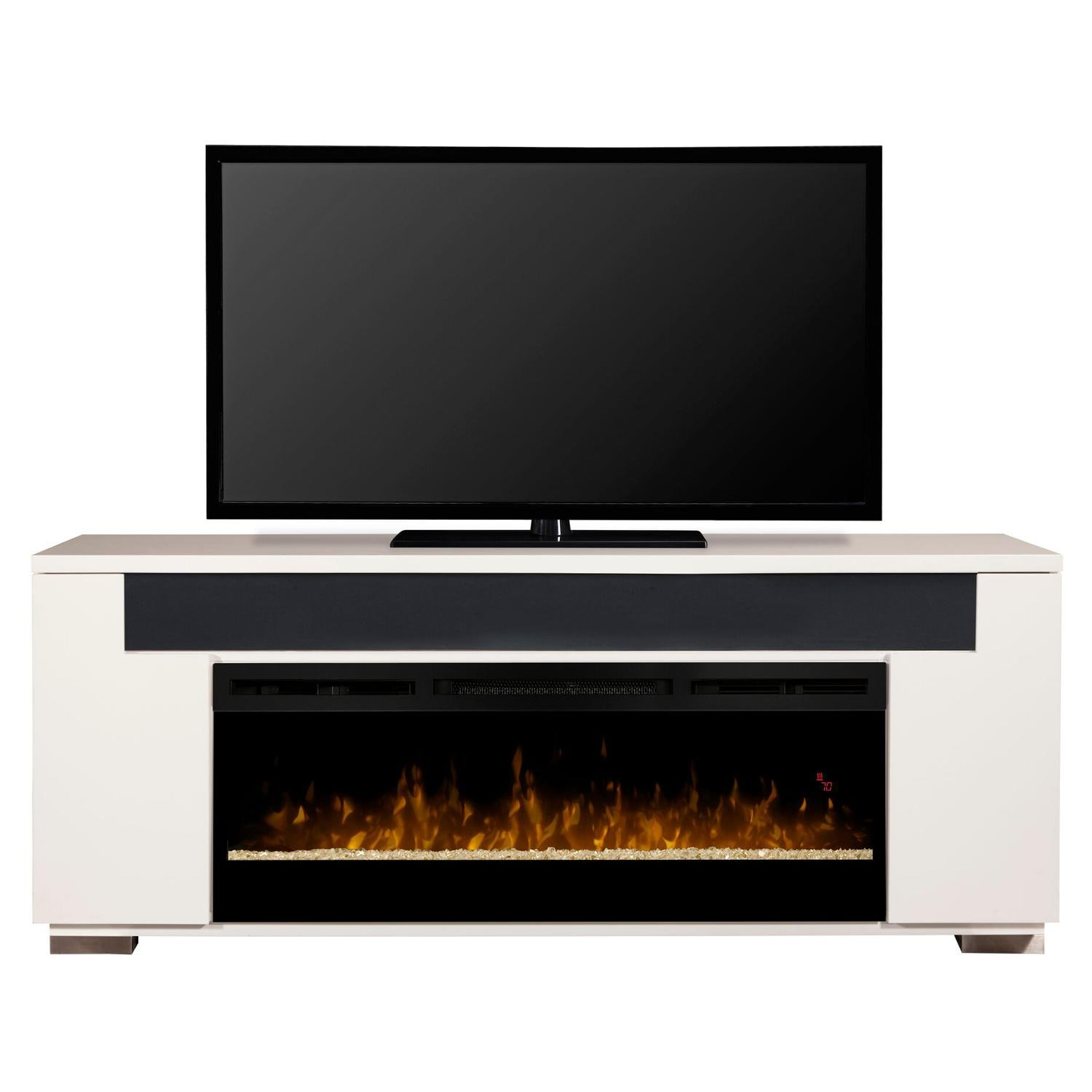Dimplex Haley 76 Inch Electric Fireplace A Console Acrylic Ice Embers White Gds50g3 1671w Gas Log Guys