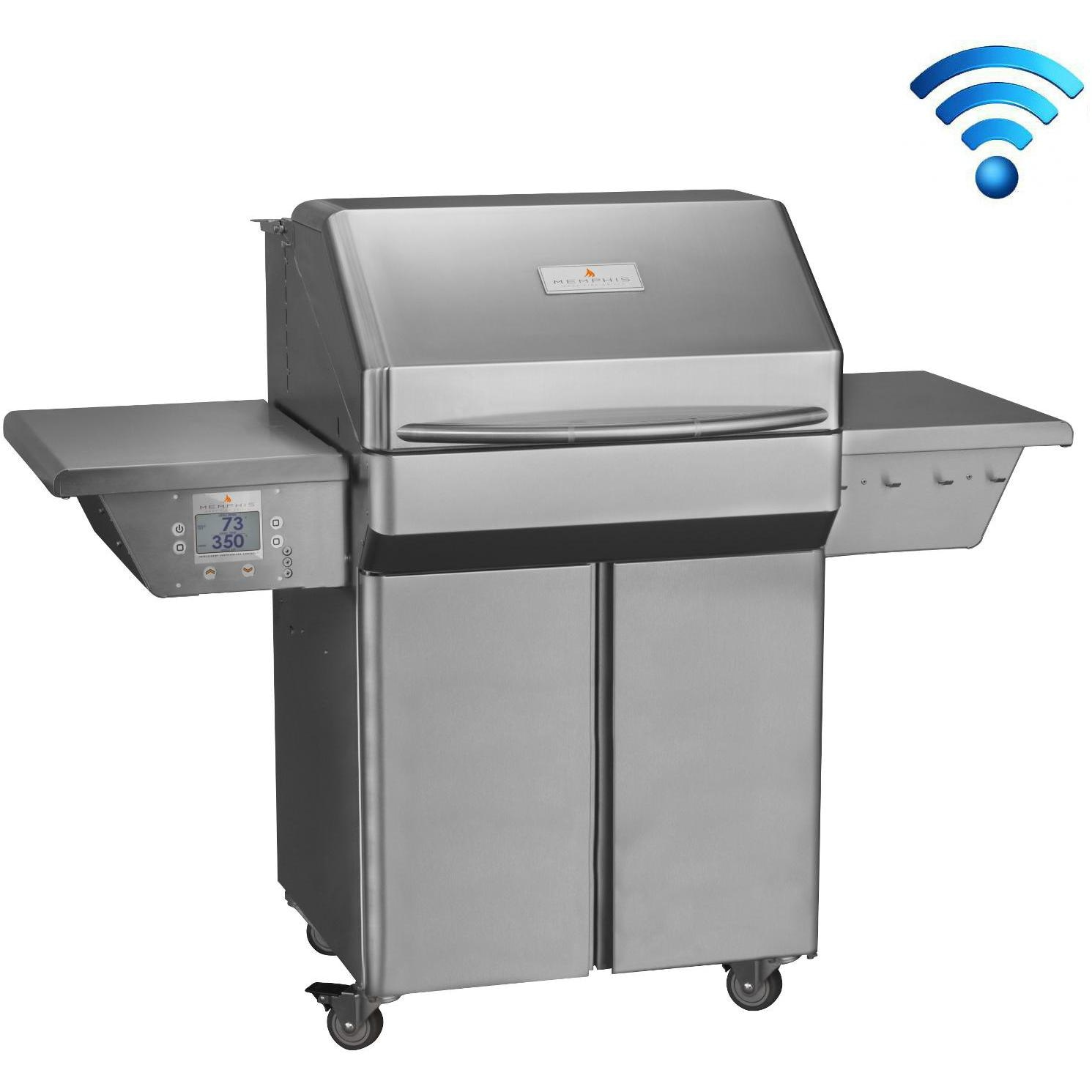 Memphis Grills Pro Wi-Fi Controlled 28-Inch 304 Stainless Steel Pellet Grill