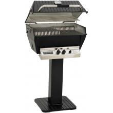Broilmaster P3-XFN Premium Natural Gas Grill On Black Patio Post