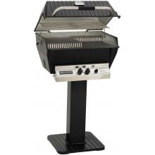 Broilmaster P3-XFN Premium Natural Gas Grill On Black Patio Post Broilmaster P3-XF Premium Gas Grill On Black Patio Post