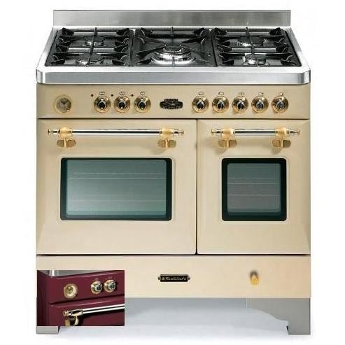 Fratelli onofri royal chiantishire dual fuel range double oven 120v burgundy brass - Cucine fratelli onofri ...