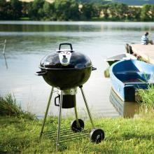 Napoleon Rodeo NK22CK-L 22.5-Inch Charcoal Kettle Grill Napoleon Rodeo NK22CK-L 22.5-Inch Charcoal Kettle Grill - Lifestyle View