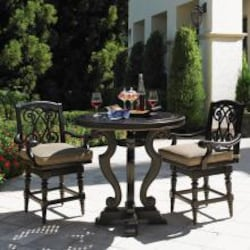 Kingstown Sedona 3 Piece Cast Aluminum Patio Counter Height Bar Set W/ Sunbrella Fabric By Tommy Bahama image