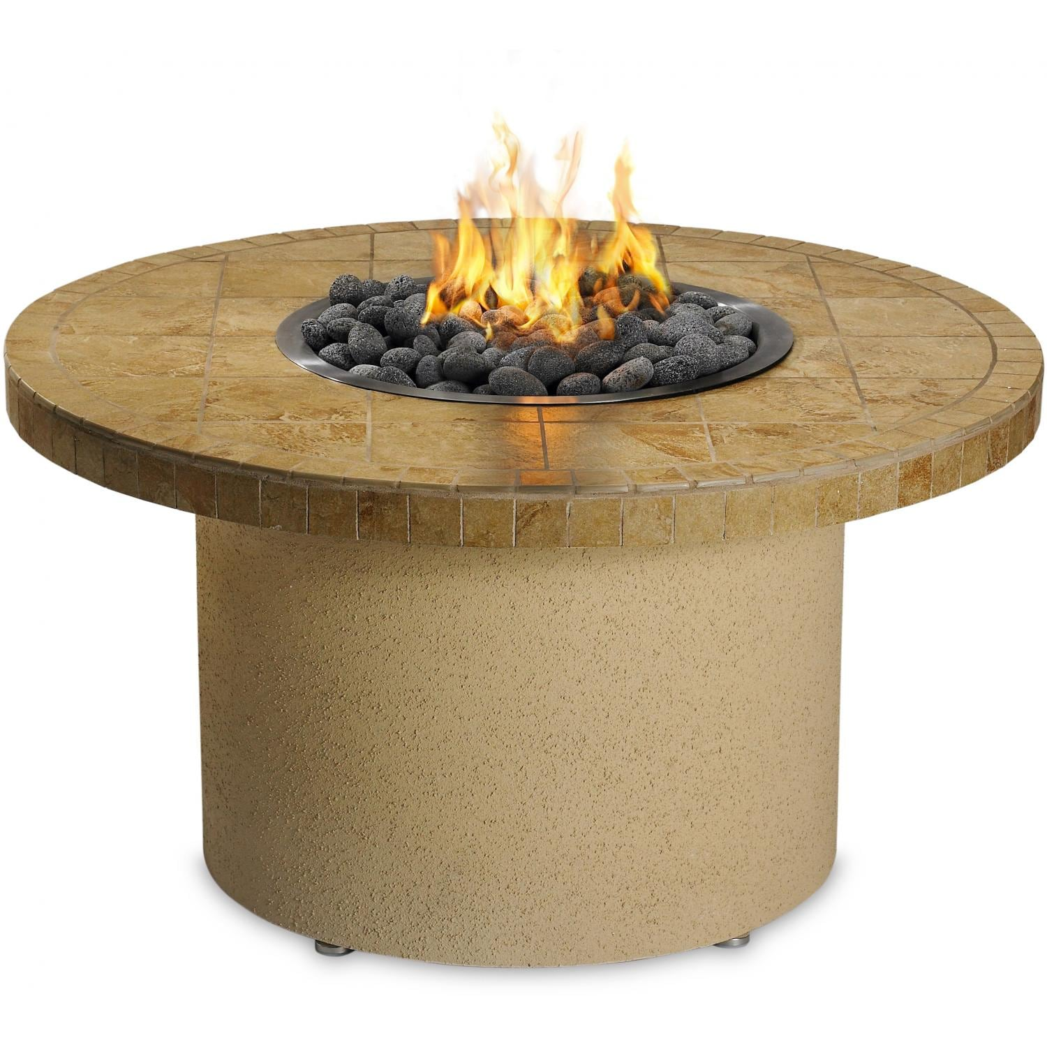 Awesome Sedona By Lynx 44 Inch Round Propane Ice N Fire Pit   Sandalwood