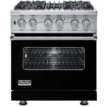 Viking VDSC530-4BLP 30-Inch Professional Series Dual Fuel Propane Gas Range With 4 Burners - Black