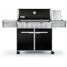 Weber Summit E-620 Gas Grill On Cart With Side Burner - Black