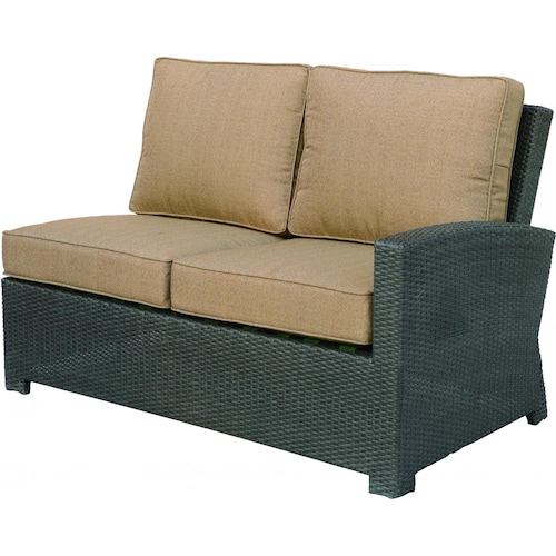 Darlee Vienna Resin Wicker Patio Sectional Loveseat Right Facing Ultimate Patio