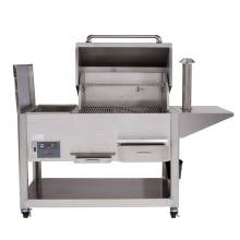 Cookshack Fast Eddys 32-Inch Freestanding/Built-In Pellet Grill - PG1000 Cookshack Fast Eddy's 32-Inch Pellet Grill - Open View