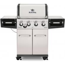 Broil King Regal S440 Pro 4-Burner Freestanding Natural Gas Grill With Side Burner - Stainless Steel