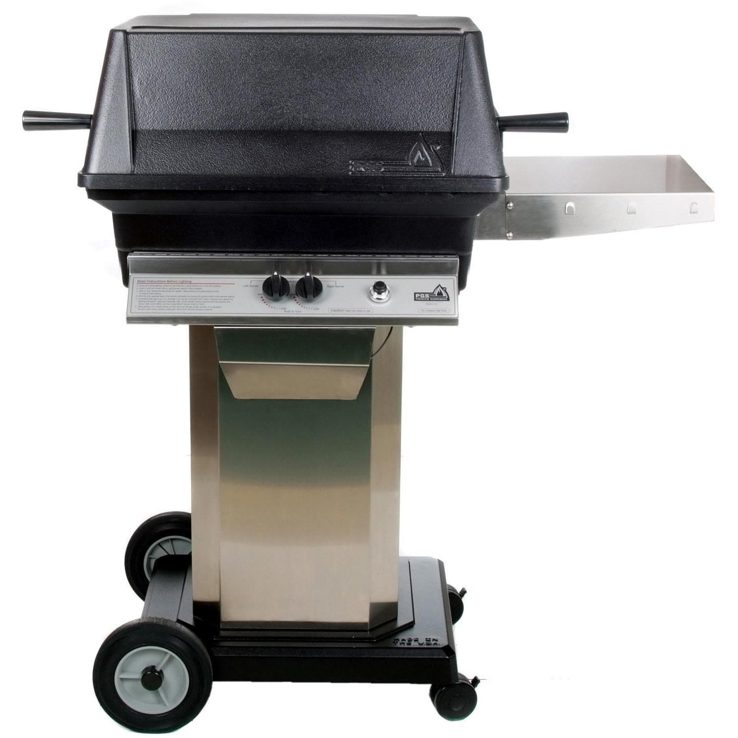PGS Gas Grills A30 Cast Aluminum Gas Grill On Stainless Steel Portable  Pedestal Base