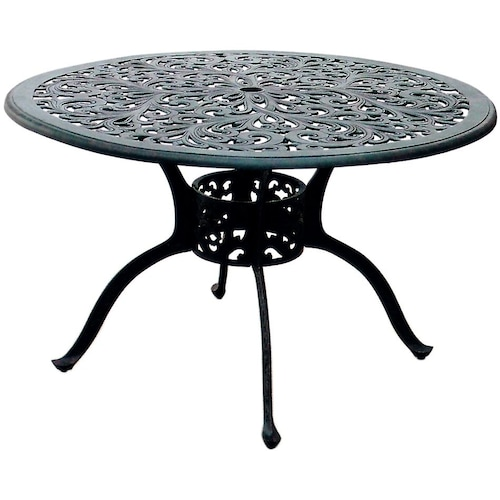 80 48 inch cast aluminum round patio dining table ultimate patio