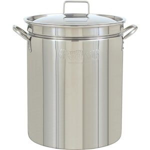 Bayou Classic Pots With Vented Lid 44 Quart Stainless Steel Stock Pot image