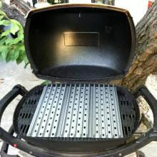 GrillGrate 15-Inch Hard Anodized Aluminum 2-Panel Grill Surface Set With Grate Tool GrillGrate 15-Inch Inch Hard Anodized Aluminum Grill Surface Set- Installed On A Grill