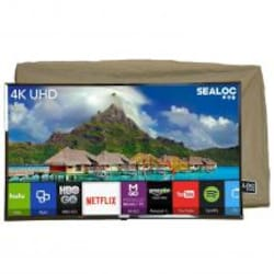 Sealoc Lanai Gold Series 55 Inch 4K LED HDR Outdoor Smart UHDTV W/ Custom Fit TV Cover image
