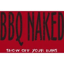 Attitude Aprons BBQ Naked Apron Attitude Aprons BBQ Naked Apron - Close Up View