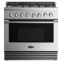 DCS 36-Inch Professional 6-Burner Propane Gas Range - RGV2-366-L DCS 36-Inch Professional 6-Burner Propane Gas Range With Griddle - RGV2-366-L