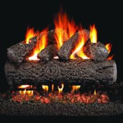 Peterson Real Fyre 24-Inch Post Oak Gas Log Set With Vented Propane G45 Burner - Manual Safety Pilot image