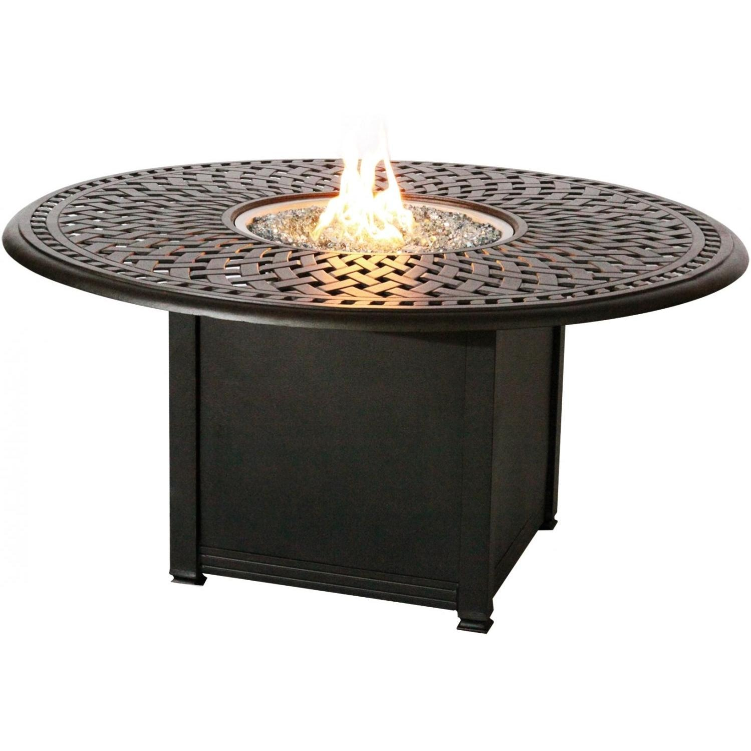 Signature 60 Inch Propane Fire Pit Dining Table By Darlee
