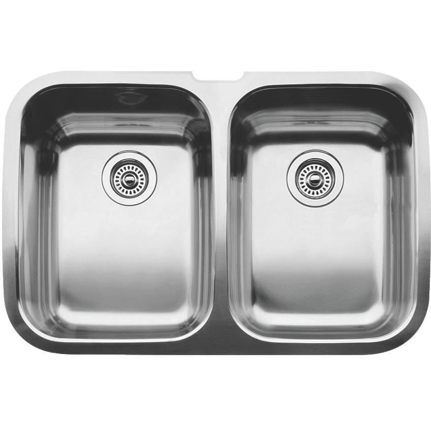 Blanco  Supreme 32 X 20 18-Gauge Equal Double Bowl Stainless Steel Undermount Sink - 440224