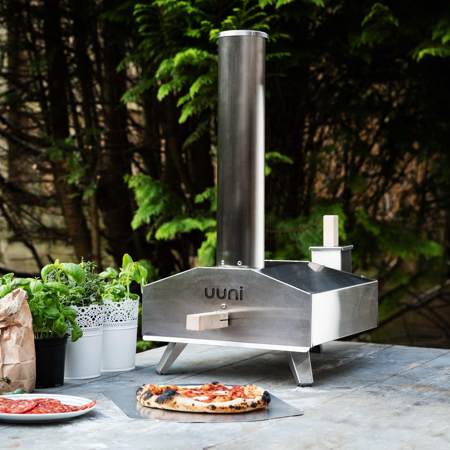 Uuni 3 Portable Outdoor Wood Fired Pellet Pizza Oven Stainless Steel Bbq Guys